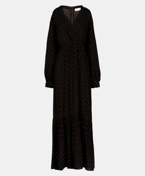 CASSIOPEA DRESS IN FIL COUPÉ VISCOSE BLACK
