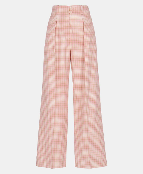 FAUNO TROUSERS IN VICHY COTTON PINK/BEIGE