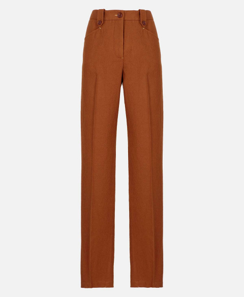 MANTUS TROUSERS IN WASHED WOOL  TOBACCO