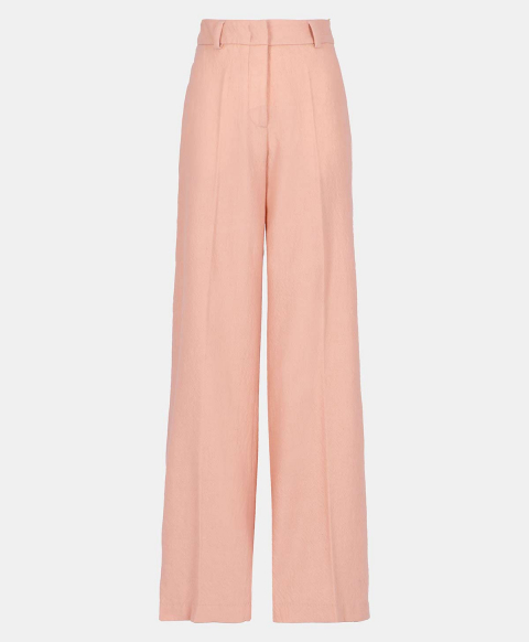 MABON TROUSERS IN WASHED WOOL  POWDER