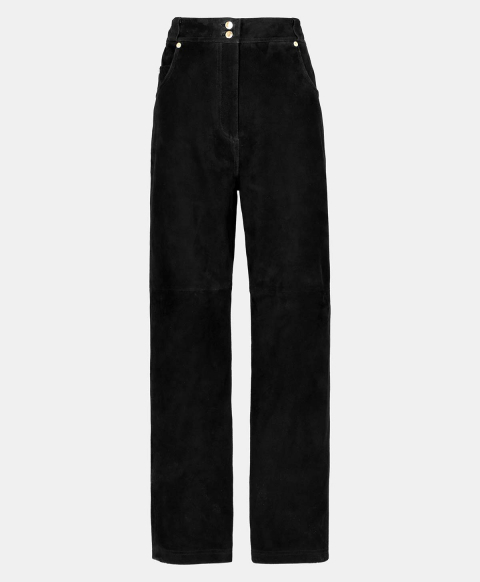 SODALITE TROUSERS IN SUEDE  BLACK