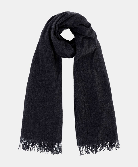 TENGU SCARF IN CASHMERE  CHARCOAL GREY
