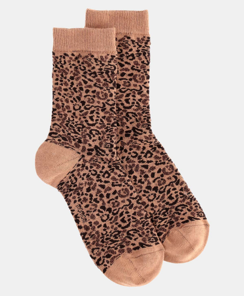 TUONI SOCKS IN JACQUARD BEIGE/BROWN