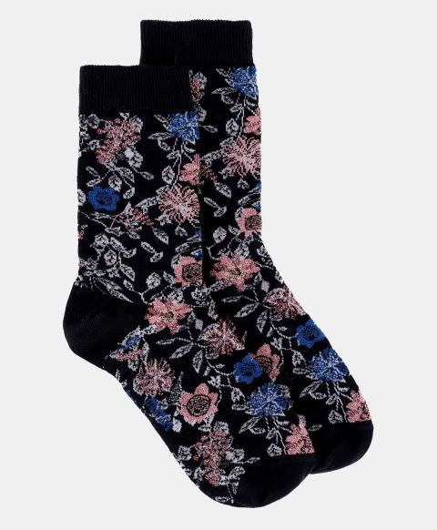 TUONI SOCKS IN JACQUARD MULTICOLOR BLACK