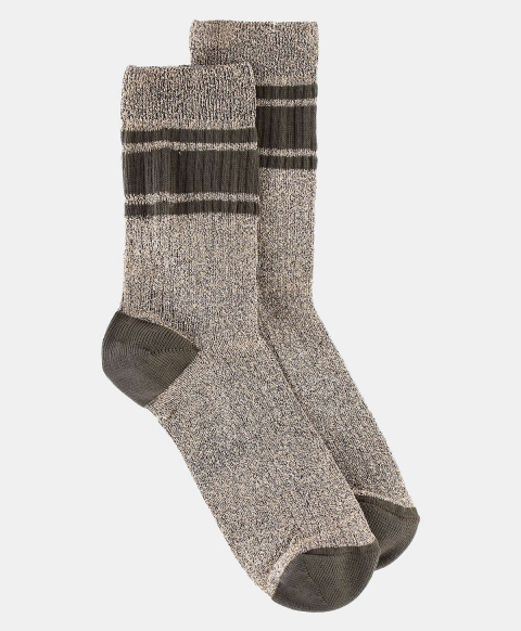 TRITONE SOCKS IN RIBBED LUREX  BLACK