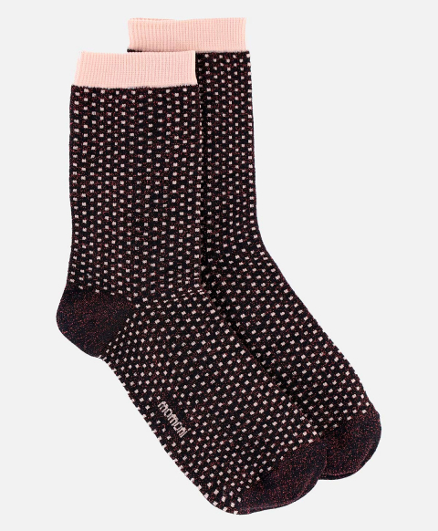 THUNOR SOCKS WITH POLKA DOTS  BORDEAUX