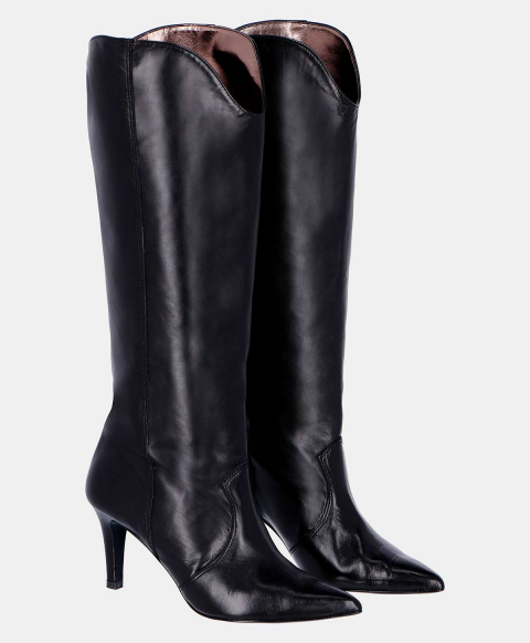 VOLTURNO BOOTS IN CROC-PRINT LEATHER  BLACK