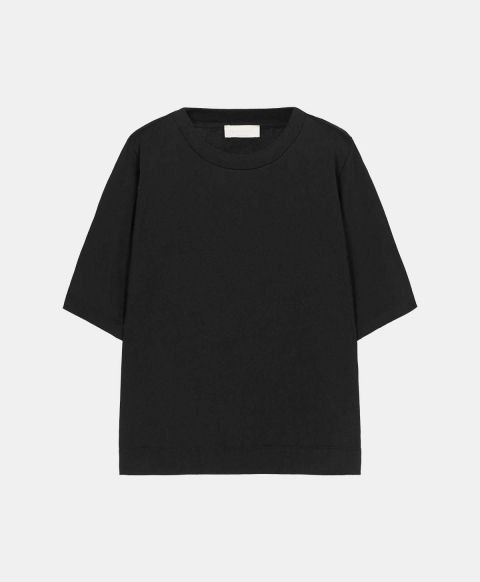 IORA T-SHIRT IN LUREX JERSEY  BLACK