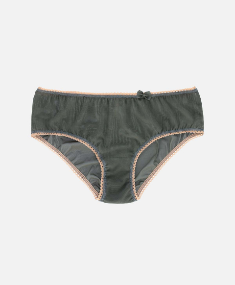 AMACA KNICKERS IN STRETCH TULLE DARK GREEN